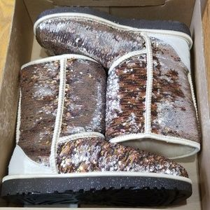 Ugg Classic Boot Sparkle Sequin Size 8 New